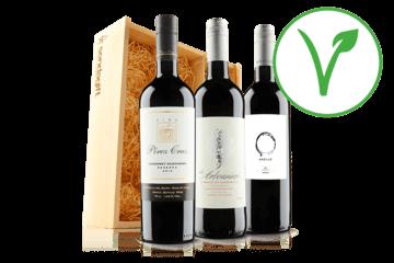 Vegan Red Wine Trio In Wooden Gift Box