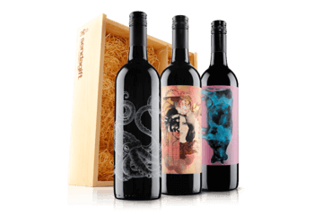 5os Wine Trio In Wooden Gift Box