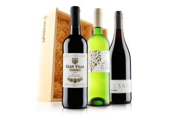 Classic Wine Trio In Wooden Gift Box