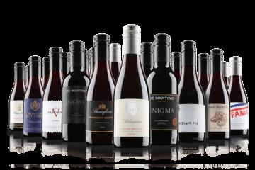 20 Mini Wine Bottles Red Gift Case
